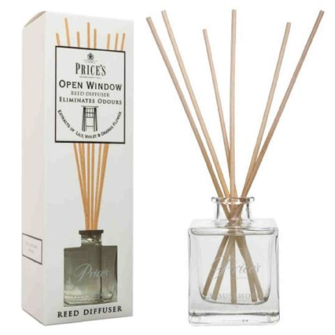 Price's Large Open Window Scented Living Room Air Freshener Reed Diffuser Jar